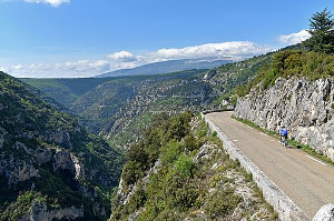 Road along the Gorges of the Nesque
